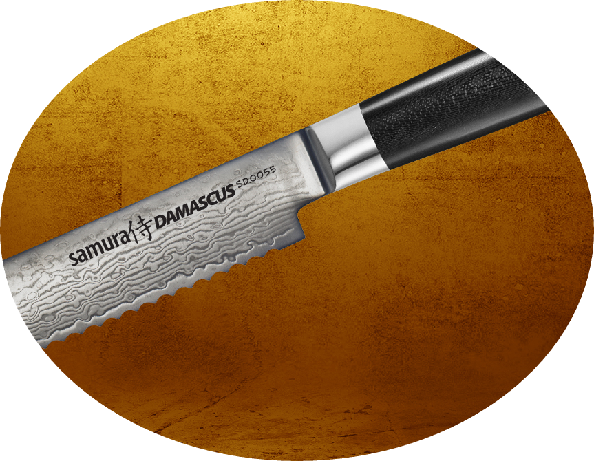 Нож для хлеба Samura Damascus SD-0055/G10
